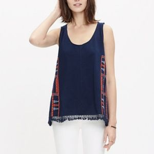 Madewell Embroidered Fringe Tank